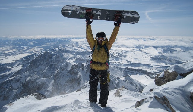 First Female Snowboarding the Grand Teton