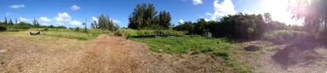 Panoramic View of Future Orchard Area: Camp Mokuleia 10 Acre Design