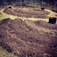 Prepping New Beds-Punkhorn Farm, MA (may 2014)