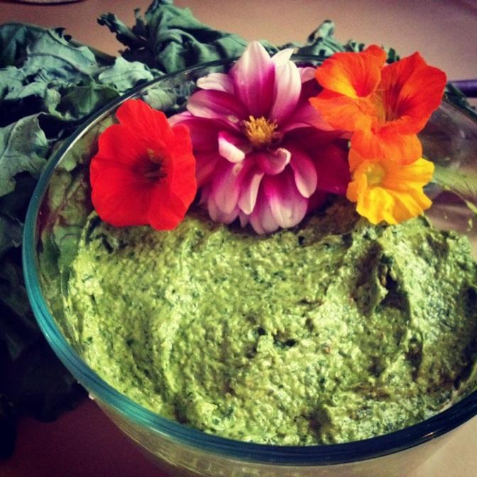 Basil Kale Pesto-Vegan