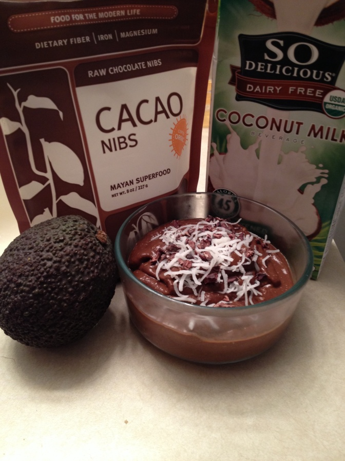 Chocolate Avocado Pudding (vegan,  GF)